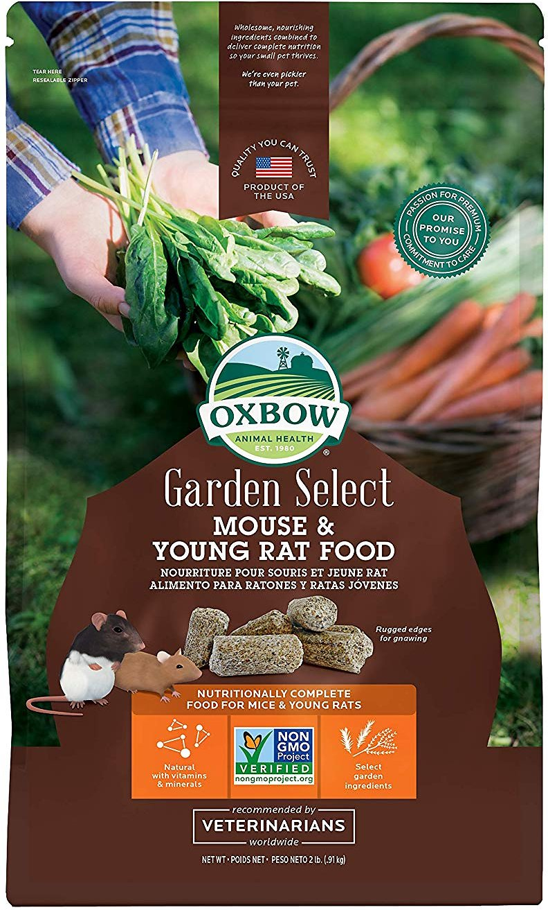 Oxbow Garden Select Mouse & Young Rat Food, 2-lb