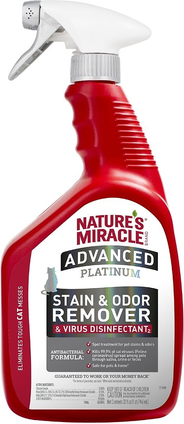 Nature's Miracle Advanced Platinum Cat Stain & Odor Eliminator Spray, 32-oz
