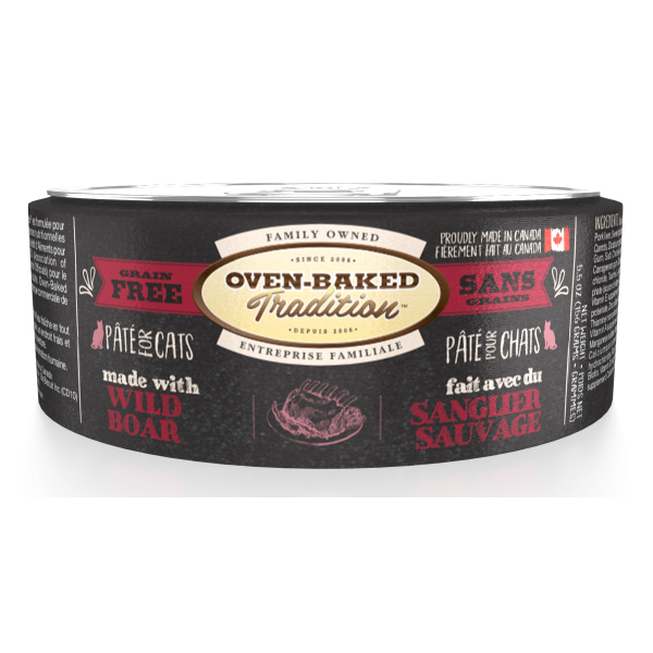 Oven-Baked Tradition Grain-Free Wild Boar Pate Canned Cat Food, 5.5-oz