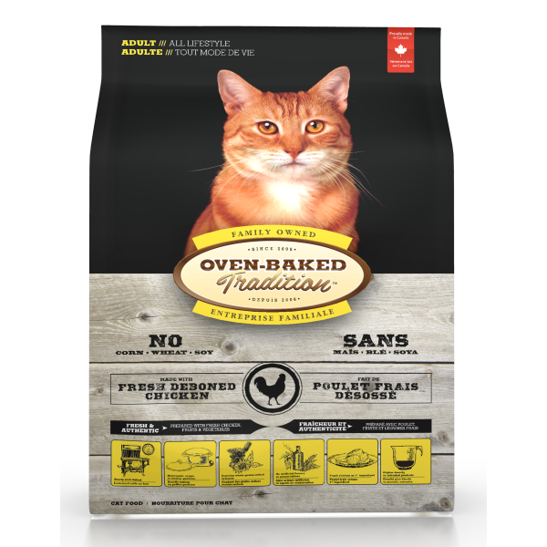 Oven-Baked Tradition Chicken Dry Cat Food, 5-lb