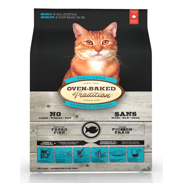 Oven-Baked Tradition Fish Dry Cat Food, 2.5-lb