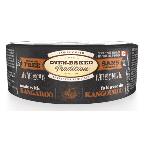 Oven-Baked Tradition Grain-Free Kangaroo Pate Canned Cat Food, Adult, 5.5-oz