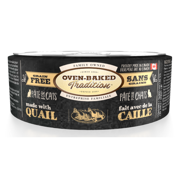 Oven-Baked Tradition Grain-Free Quail Pate Canned Cat Food, Adult, 5.5-oz