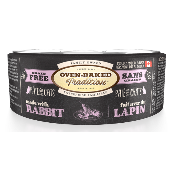 Oven-Baked Tradition Grain-Free Rabbit Pate Canned Cat Food, Adult, 5.5-oz