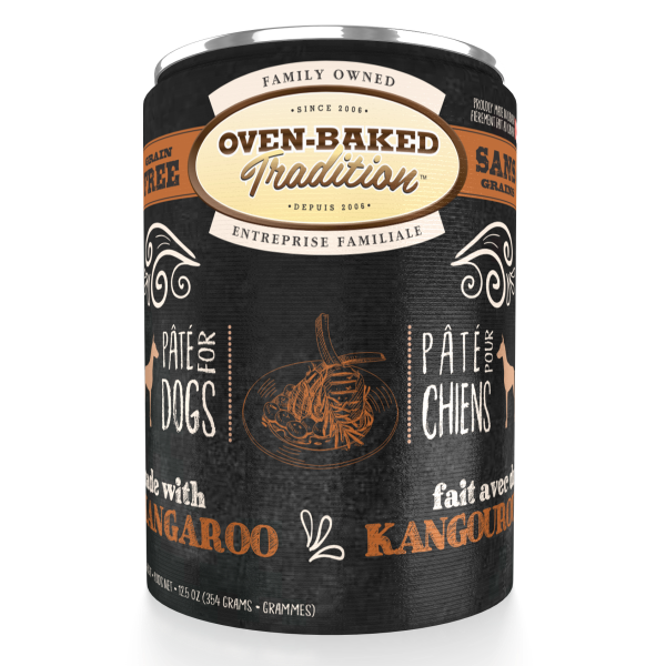 Oven-Baked Tradition Grain-Free Kangaroo Pate Canned Dog Food, Adult, 12.5-oz
