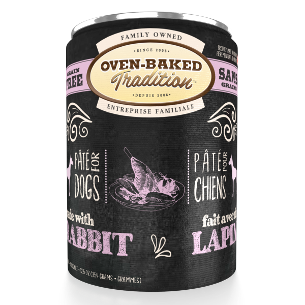 Oven-Baked Tradition Grain-Free Rabbit Pate Canned Dog Food, Adult, 12.5-oz