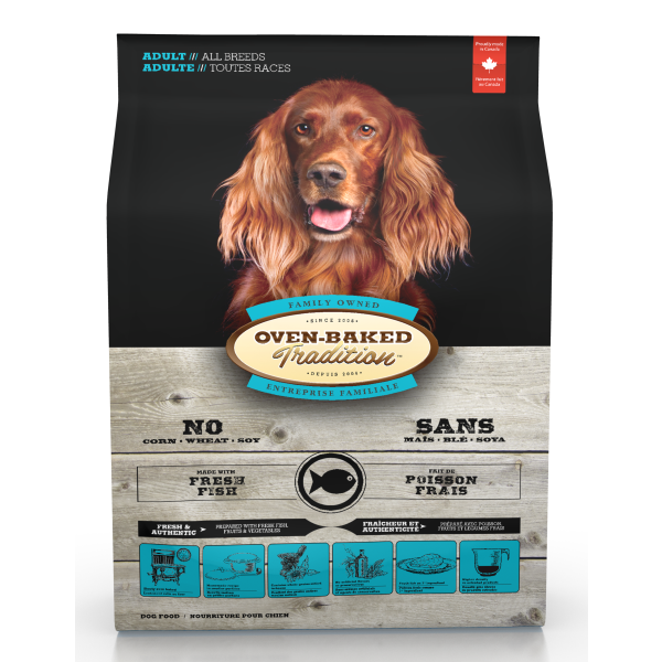 Oven-Baked Tradition Fresh Fish Formula Dry Dog Food, Adult, All Breeds, 5-lb