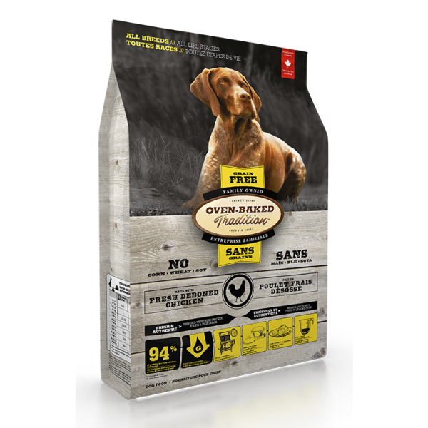 Oven-Baked Tradition Grain-Free Fresh Chicken Formula Dry Dog Food, All Breeds, All Life Stages, 25-lb