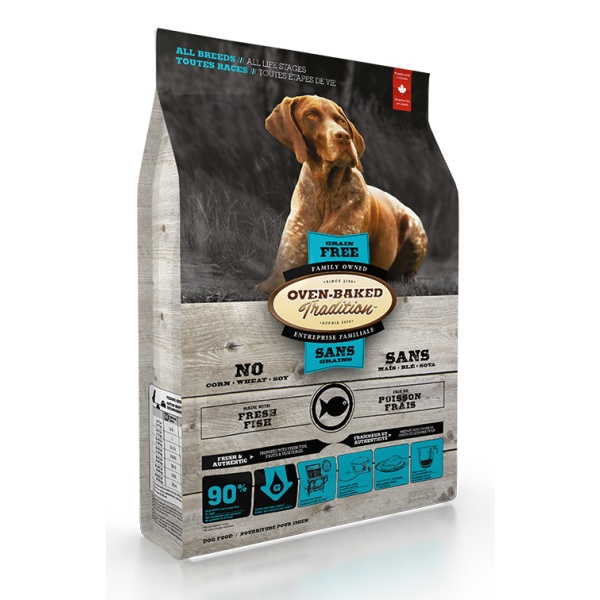 Oven-Baked Tradition Grain-Free Fresh Fish Formula Dry Dog Food, All Breeds, All Life Stages, 25-lb