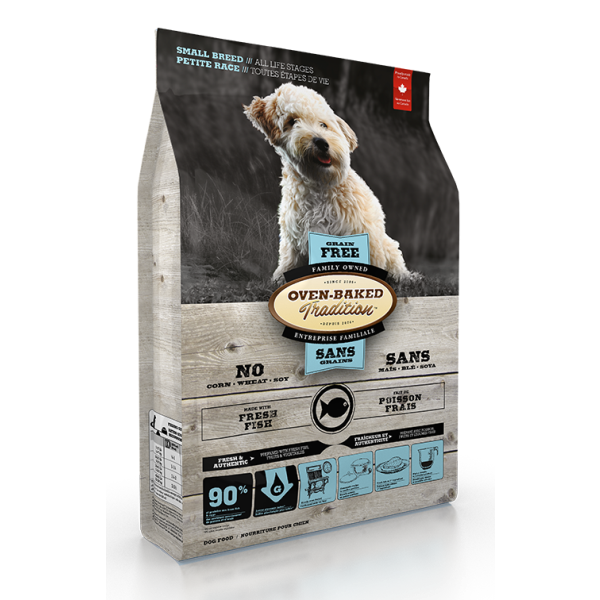 Oven-Baked Tradition Grain-Free Fresh Fish Formula Dry Dog Food, Small Breeds, Small Breed, All Life Stages, 5-lb