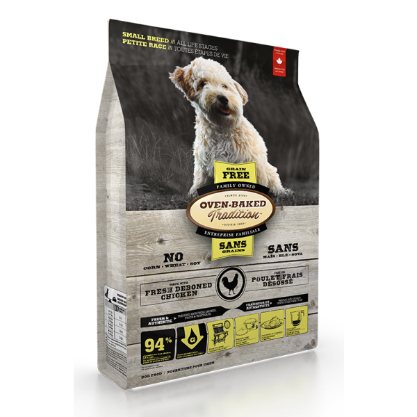 Oven-Baked Tradition Grain-Free Fresh Chicken Formula Dry Dog Food, Small Breed, All Life Stages, 5-lb