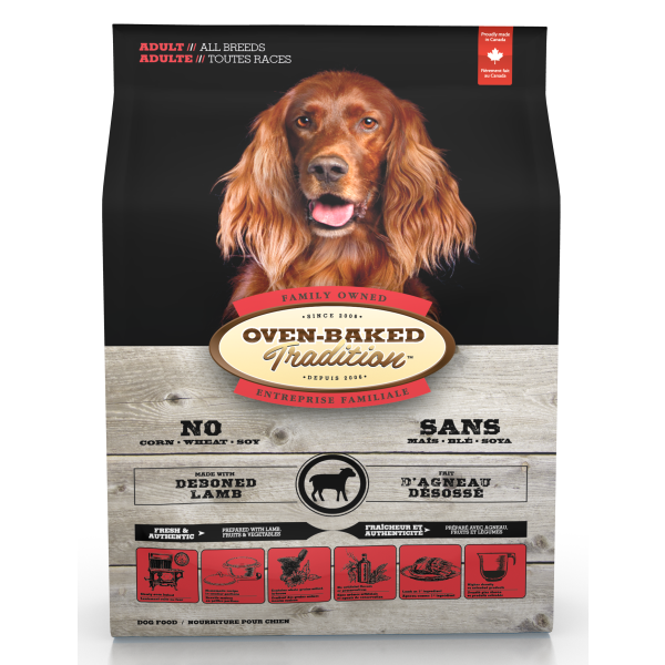 Oven-Baked Tradition Lamb Dry Dog Food, 25-lb