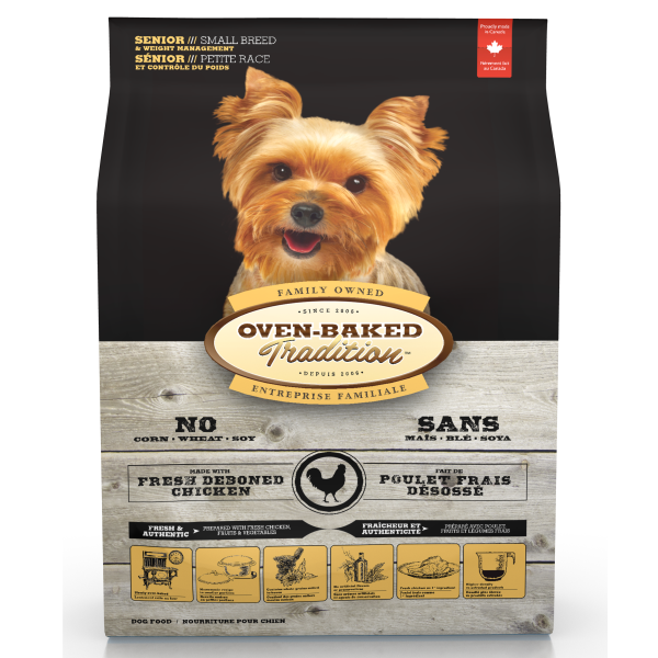 Oven-Baked Tradition Fresh Chicken Senior Small Breed Dry Dog Food, 5-lb