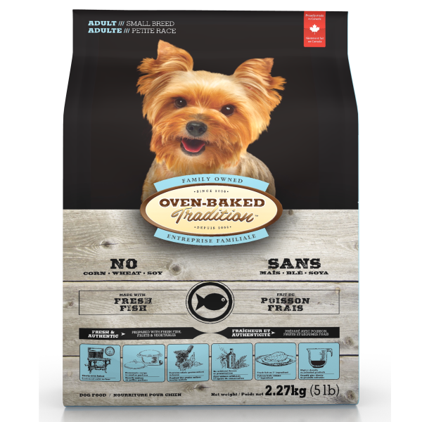 Oven-Baked Tradition Fresh Fish Formula Dry Dog Food, Adult, Small Breed, 5-lb