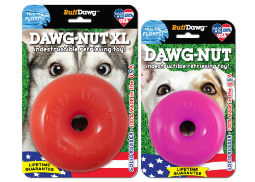 Ruff Dawg Indestructible Dawg Nut Dog Toy, Color Varies, Regular, 3.5-in