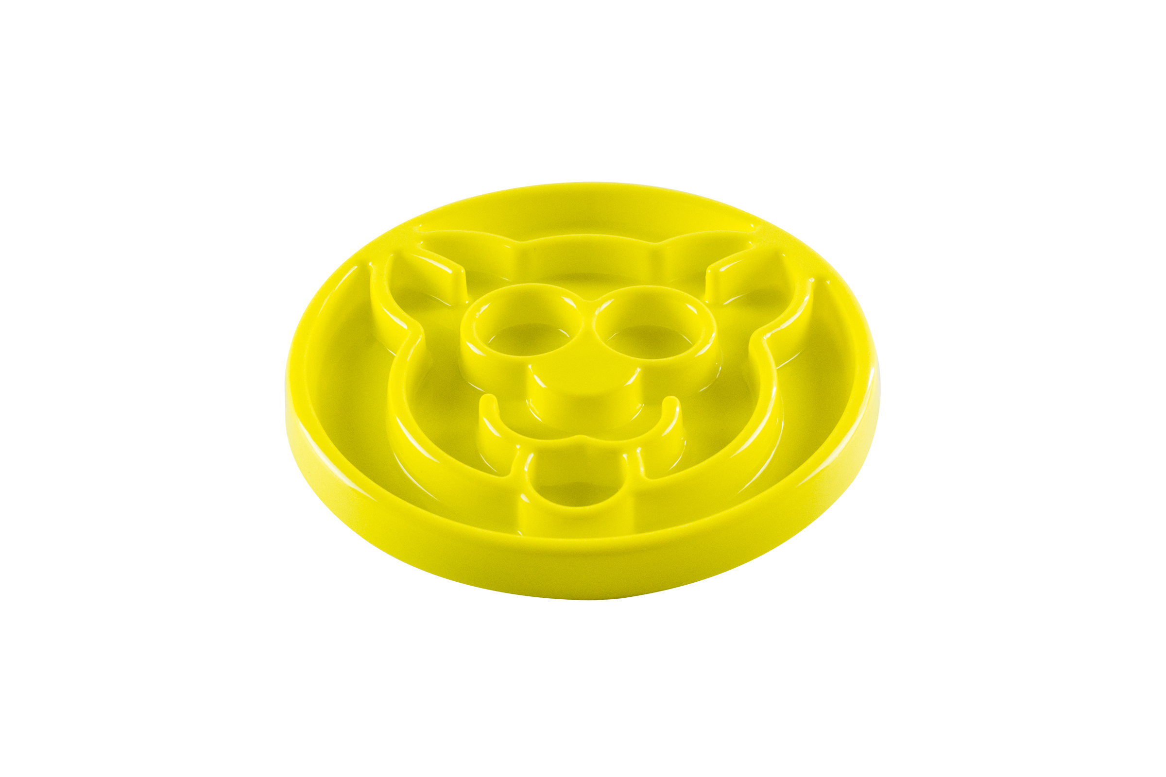 Beonebreed Slow Feeder Cat Bowl, Yellow