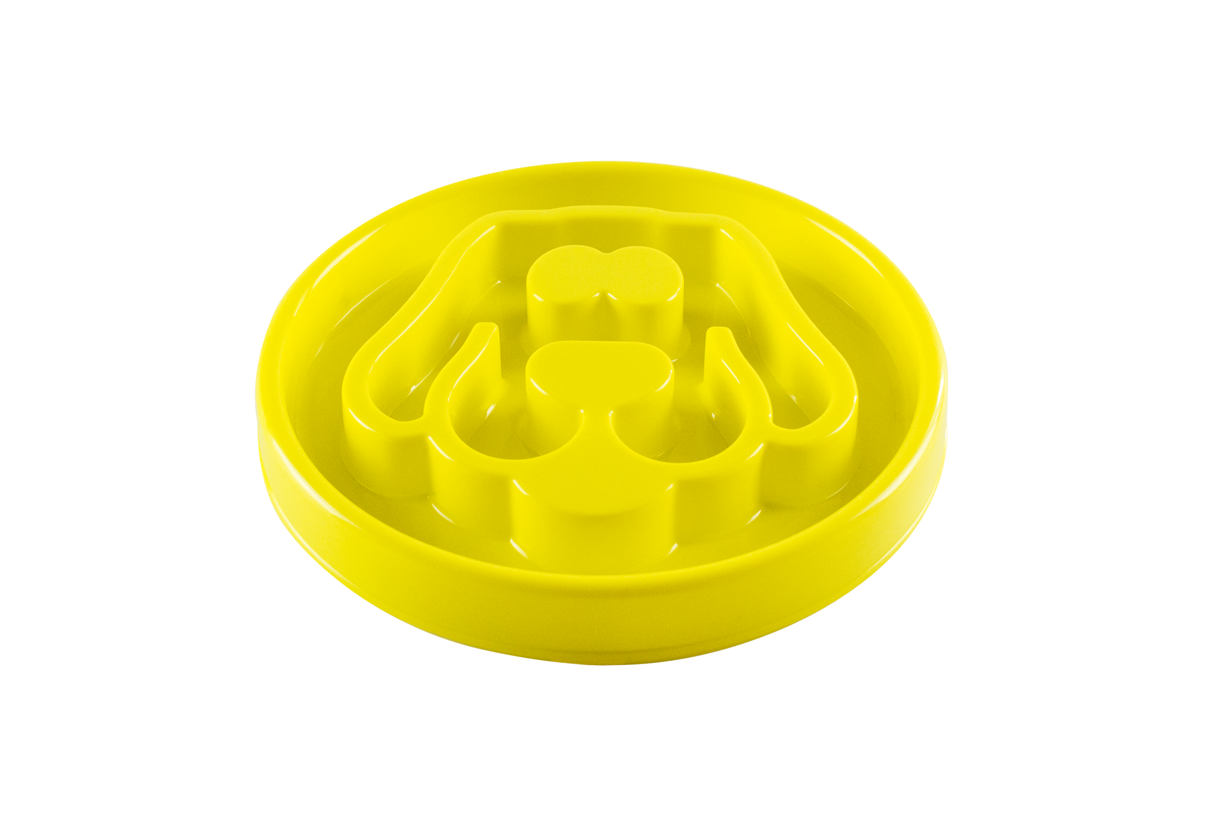 Beonebreed Slow Feed Dog Bowl, Yellow, 12-in