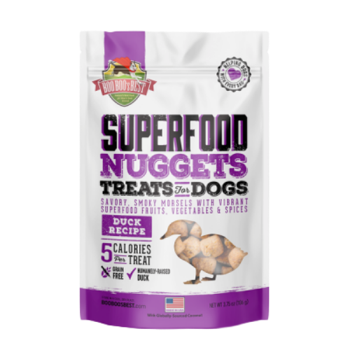Boo Boo'S Best Freeze Dried Superfood Nuggets Freeze Dried Dog Treats, Duck, 3.75-oz bag