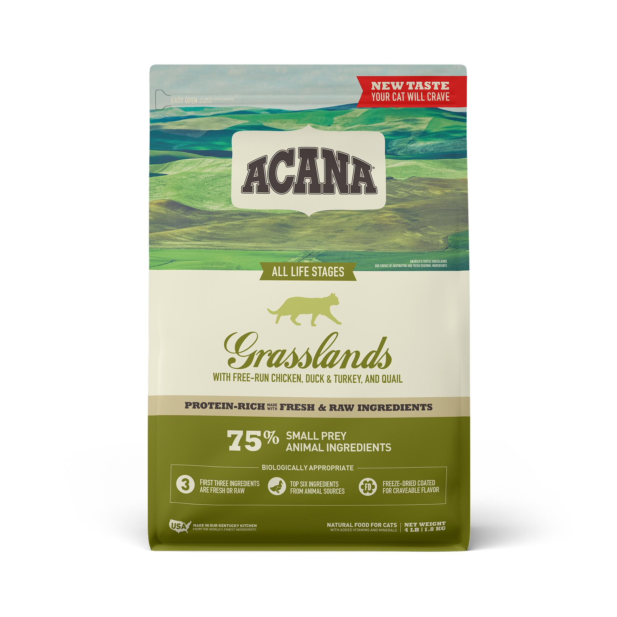 ACANA Grasslands Grain-Free Dry Cat Food, 4-lb bag