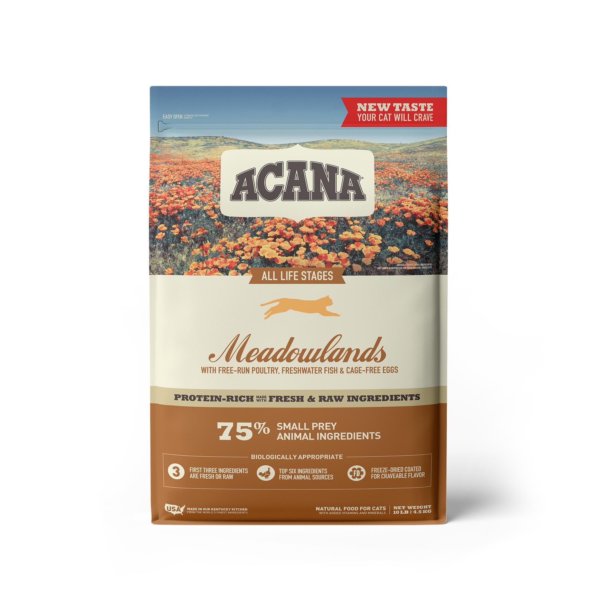 ACANA Meadowlands Grain-Free Dry Cat Food, 10-lb bag
