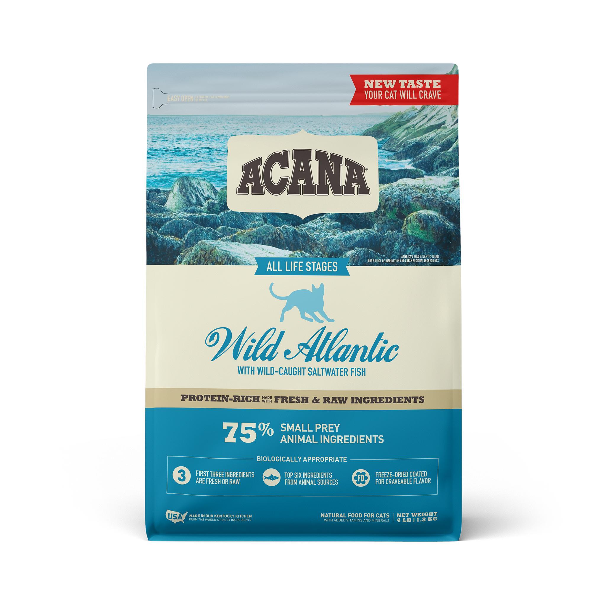 ACANA Wild Atlantic Grain-Free Dry Cat Food, 4-lb bag