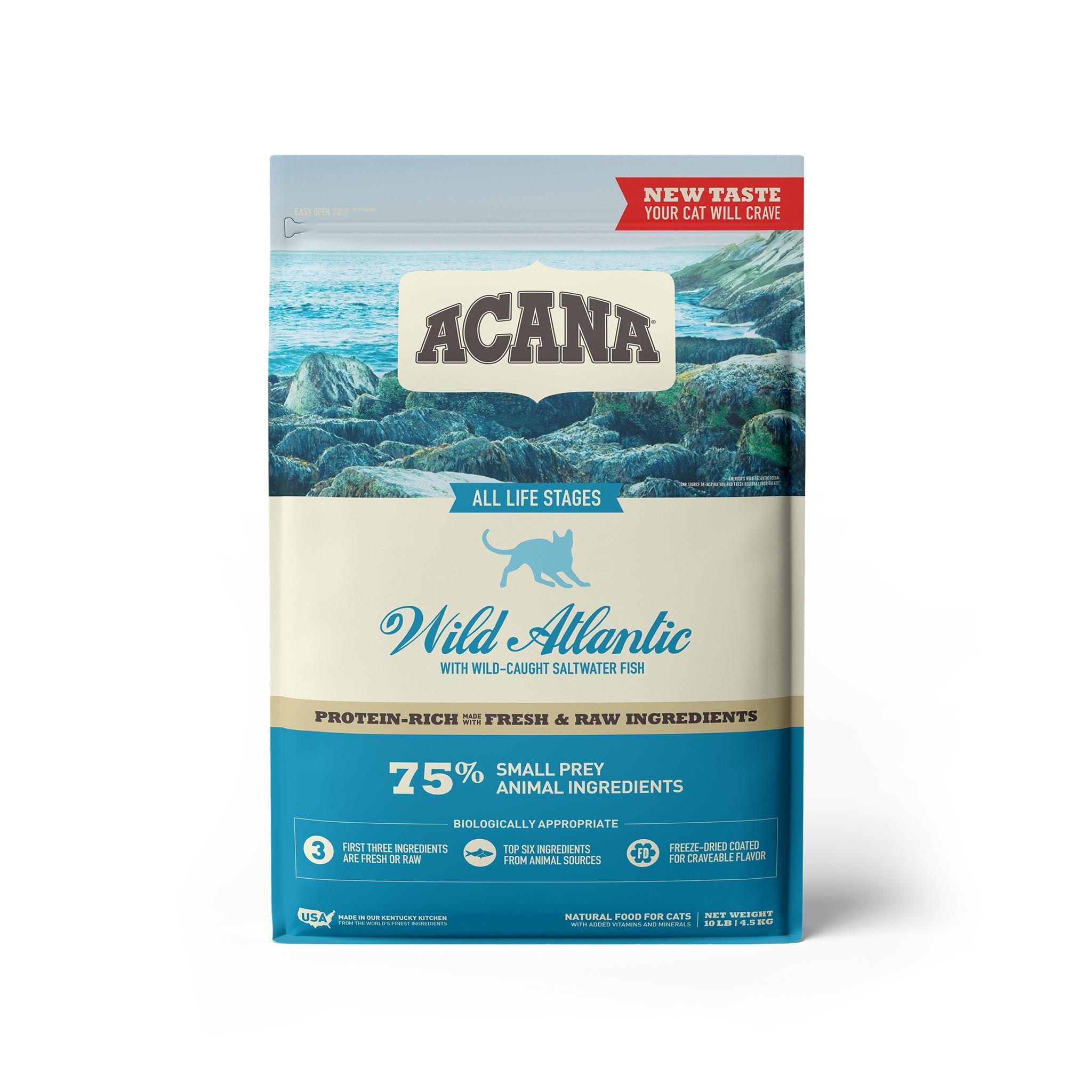 ACANA Wild Atlantic Grain-Free Dry Cat Food, 10-lb bag