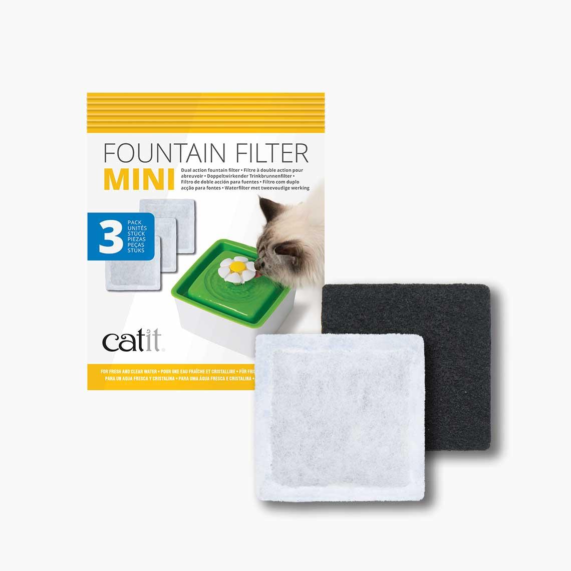Catit Mini Fountain Filter, 3-pk