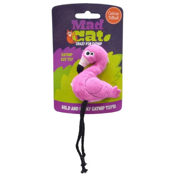 Mad Cat Flingin' Plush Flamingo Cat Toy