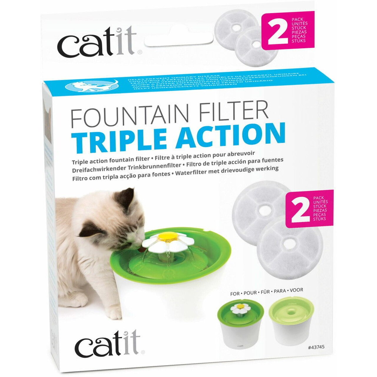 Catit Fountain Triple Action Filters, 2-pk