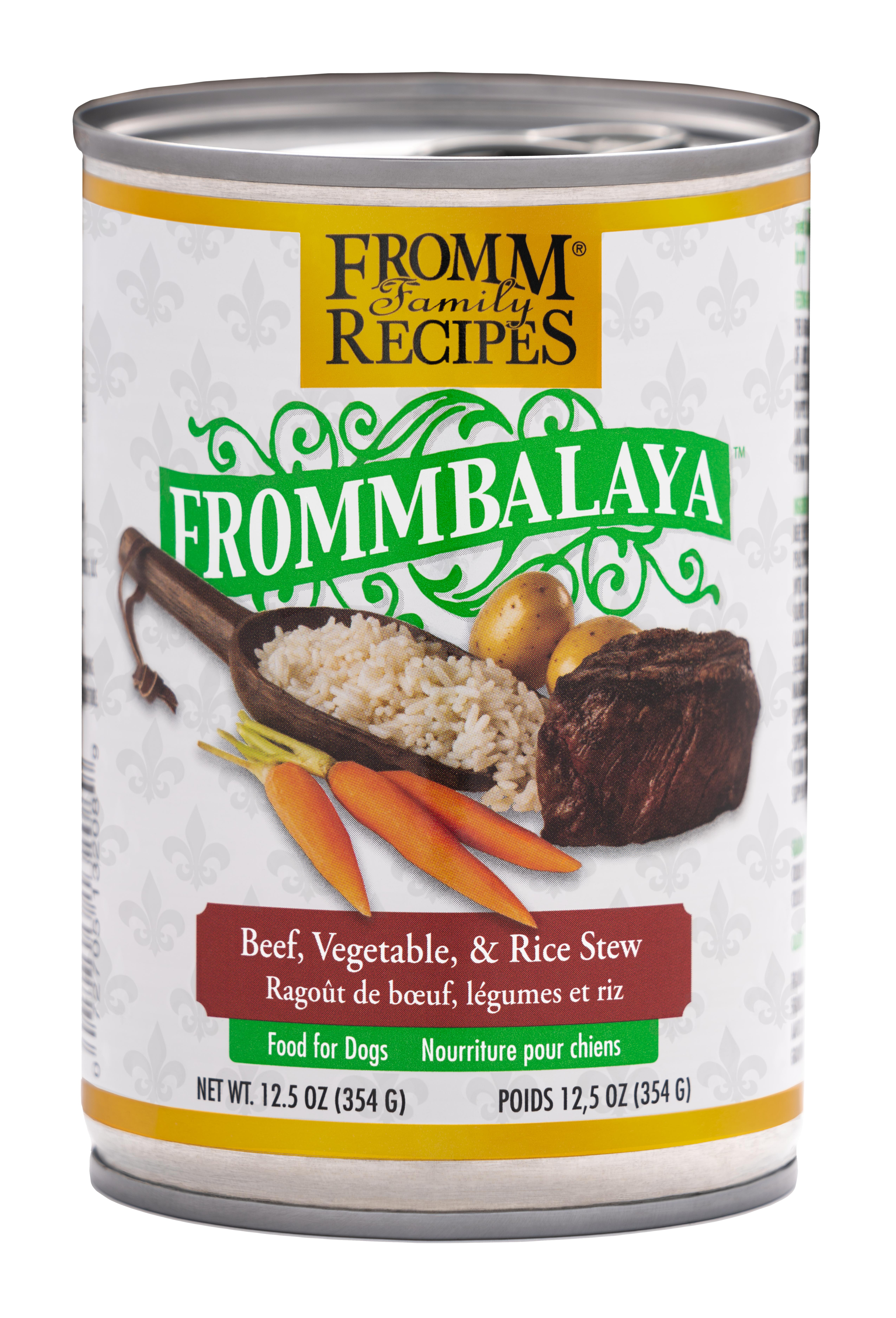 Fromm Family Recipes Frommbalaya Beef, Vegetable & Rice Stew Canned Dog Food, 12.5-oz