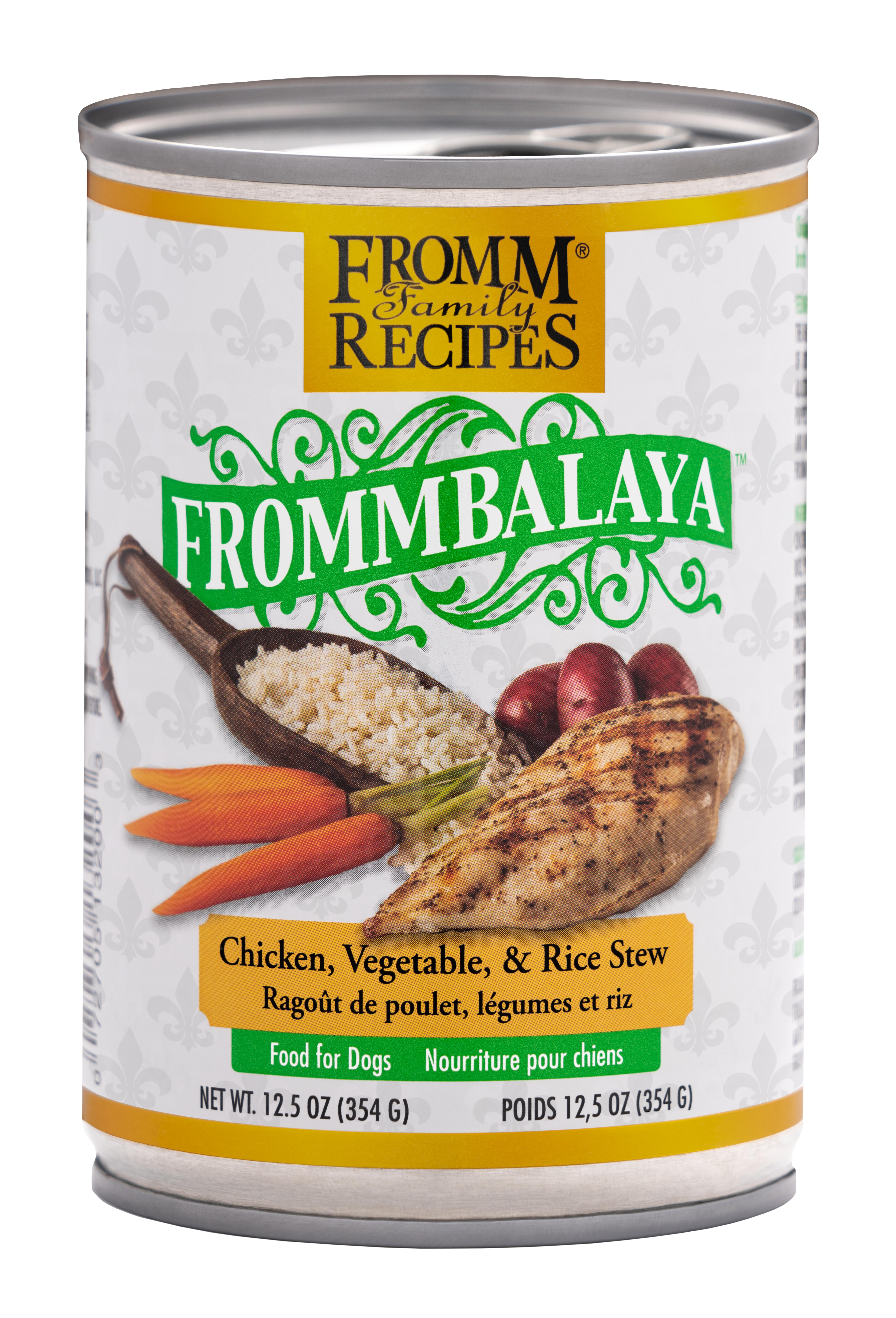 Fromm Family Recipes Frommbalaya Chicken, Vegetable & Rice Stew Canned Dog Food, 12.5-oz