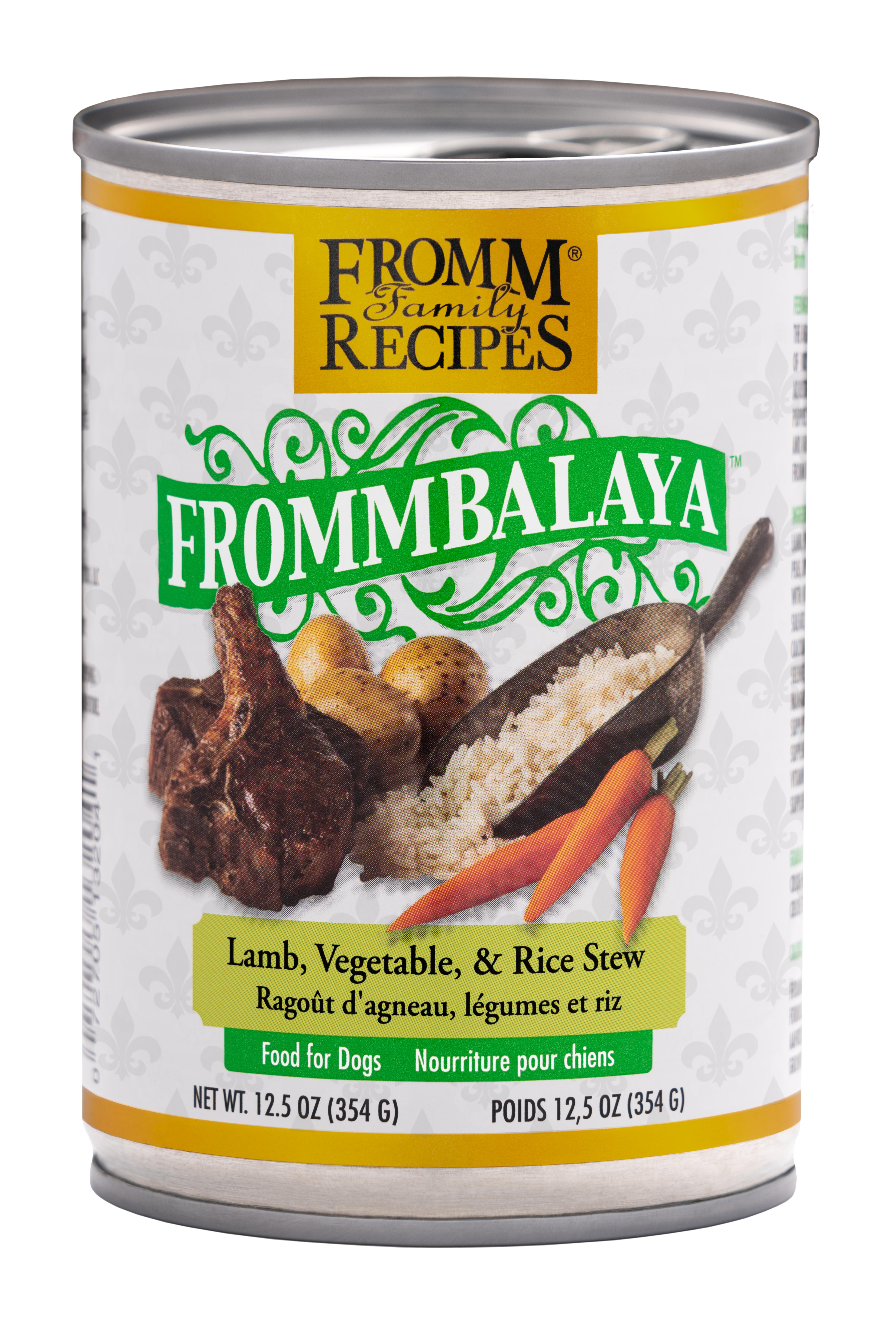 Fromm Family Recipes Frommbalaya Lamb, Vegetable & Rice Stew Canned Dog Food, 12.5-oz
