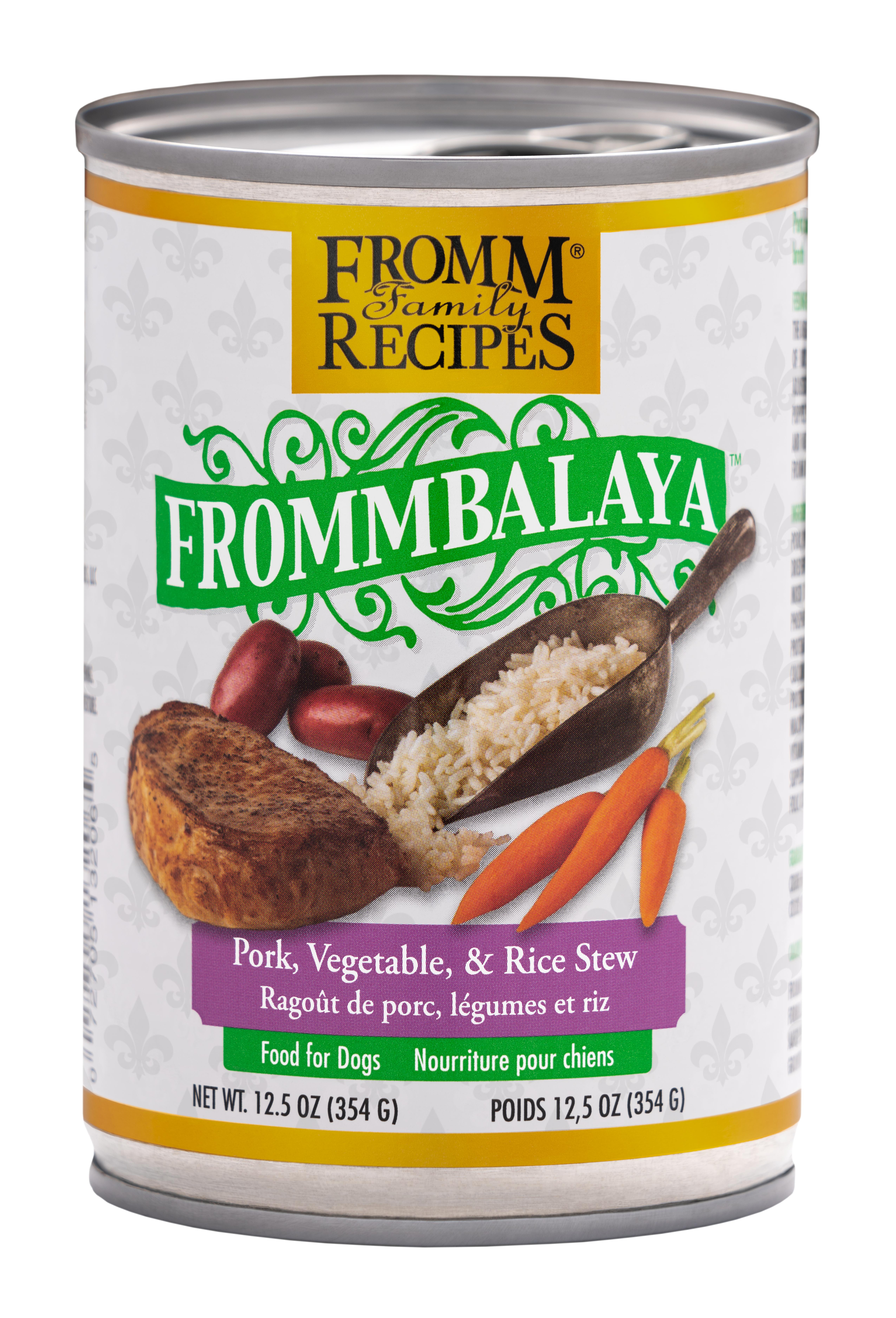 Fromm Family Recipes Frommbalaya Pork, Vegetable & Rice Stew Canned Dog Food, 12.5-oz, case of 12