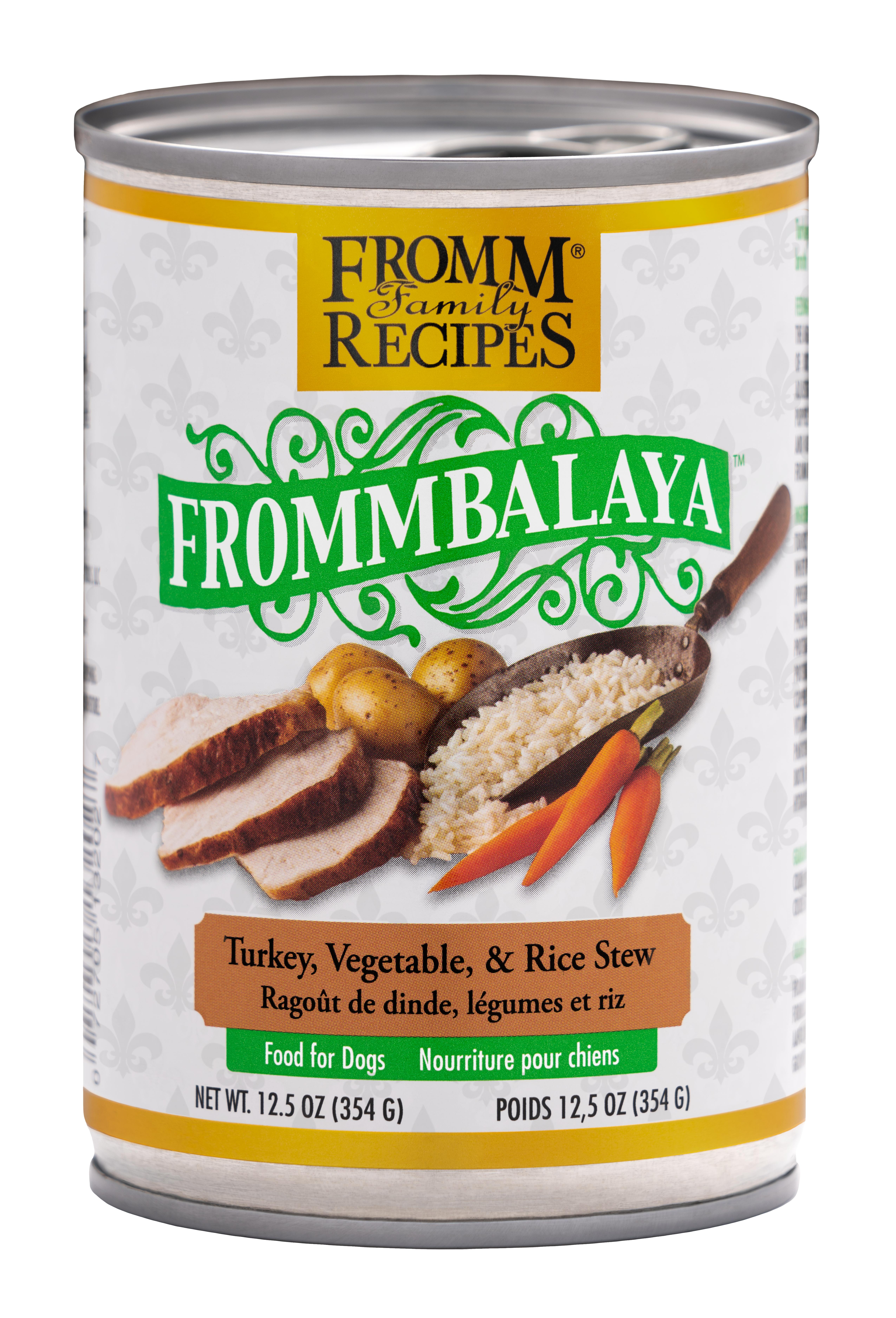 Fromm Family Recipes Frommbalaya Turkey, Vegetable & Rice Stew Canned Dog Food, 12.5-oz