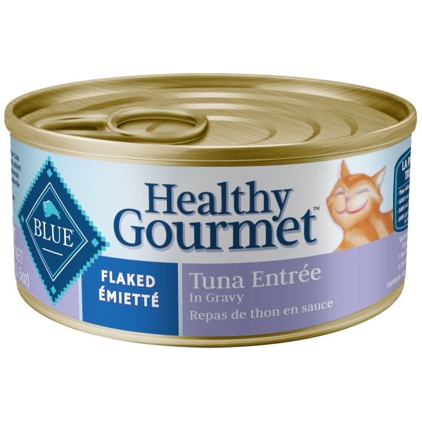 Blue Buffalo Healthy Gourmet Flaked Tuna in Gravy Adult Wet Cat Food, 5.5-oz