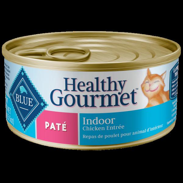 Blue Buffalo Healthy Gourmet Indoor Chicken Pate Adult Wet Cat Food, 5.5-oz