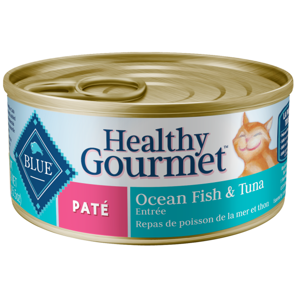 Blue Buffalo Healthy Gourmet Ocean Fish & Tuna Pate Adult Wet Cat Food, 5.5-oz