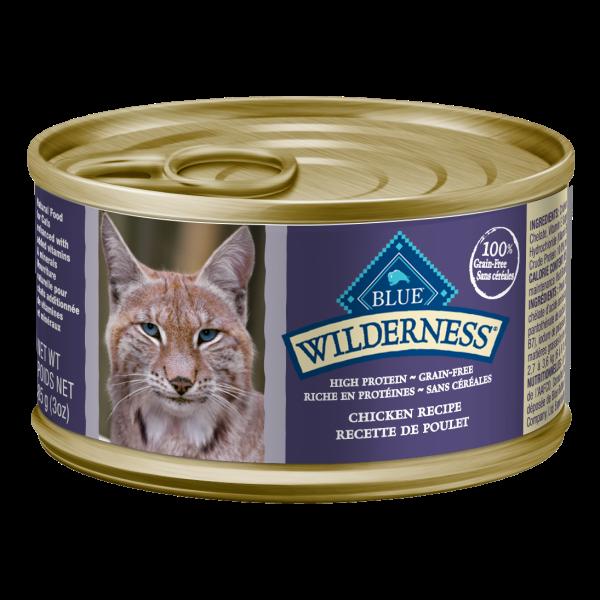Blue Buffalo Wilderness Chicken Entrée Adult Wet Cat Food, 5.5-oz