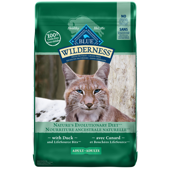 Blue Buffalo Wilderness Grain-Free with Duck Adult Dry Cat Food, 11-lb