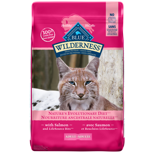 Blue Buffalo Wilderness Grain-Free with Salmon Adult Dry Cat Food, 11-lb