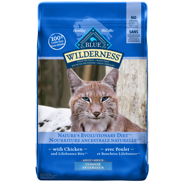 Blue Buffalo Wilderness Grain-Free Indoor with Chicken Adult Dry Cat Food, 11-lb