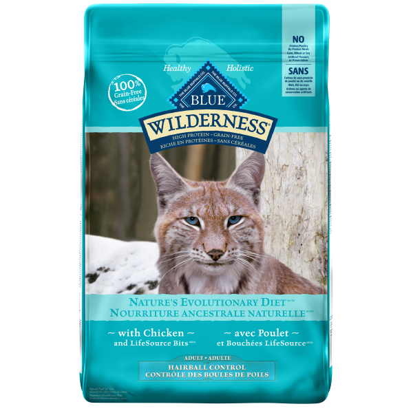 Blue Buffalo Wilderness Indoor Hairball with Chicken Grain-Free Adult Dry Cat Food, 11-lb