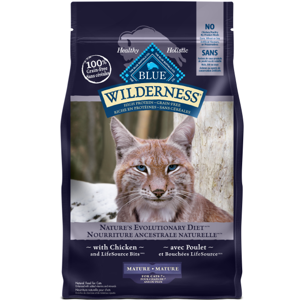 Blue Buffalo Wilderness with Chicken Grain-Free Mature Dry Cat Food, 5-lb