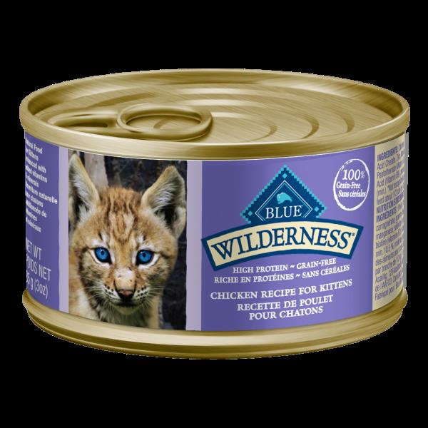 Blue Buffalo Wilderness Chicken Entrée Grain-Free Kitten Wet Cat Food, 3-oz