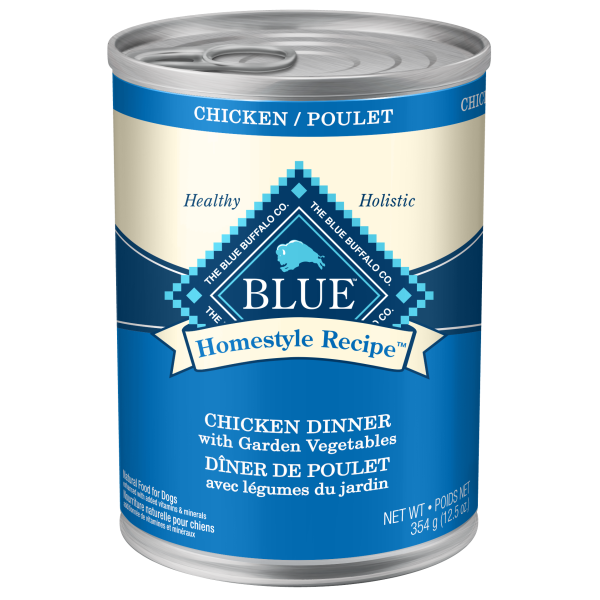 Blue Buffalo Homestyle Chicken Dinner with Garden Vegetables Adult Wet Dog Food, 12.5-oz