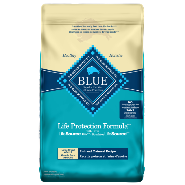 Blue Buffalo LPF Fish & Oatmeal Adult Large Breed Dry Dog Food, 26-lb