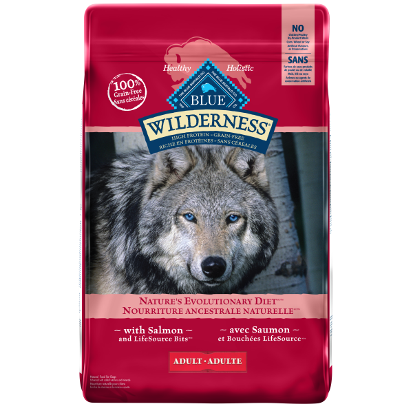 Blue Buffalo Wilderness Salmon Adult Dry Dog Food, 11-lb