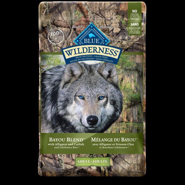 Blue Buffalo Wilderness Bayou Blend with Alligator Adult Dry Dog Food, 22-lb