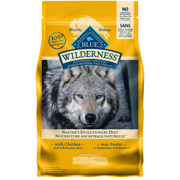 Blue Buffalo Wilderness Healthy Weight Chicken Adult Dry Dog Food, 24-lb