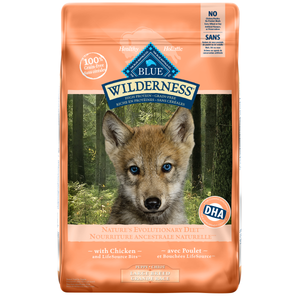 Blue Buffalo Wilderness Chicken Grain-Free Puppy Large Breed Dry Dog Food, 24-lb